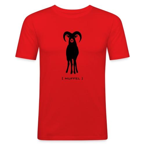 Herren Shirt Widder Muffel Schaf Wildschaf Muffelwild Tiershirt Shirt Tiermotiv - Männer Slim Fit T-Shirt
