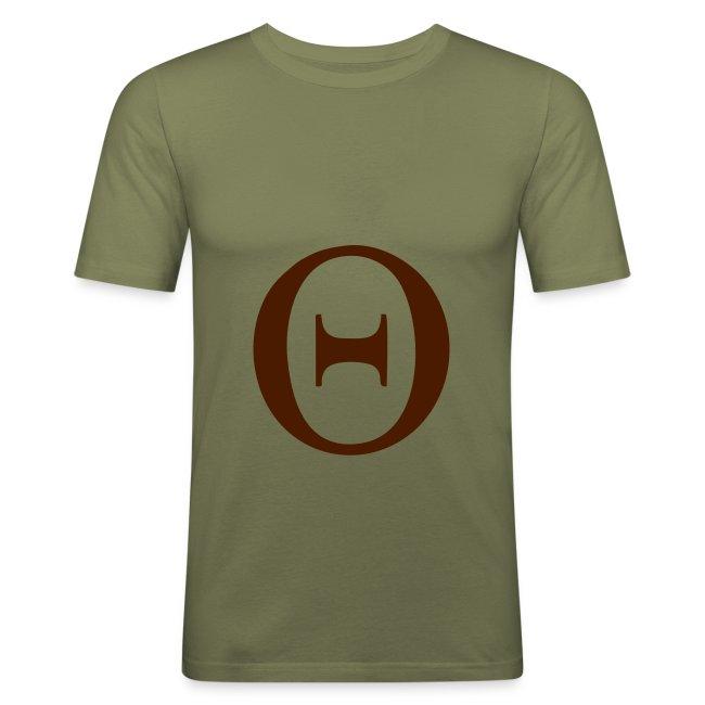 Nuts Arty Clothing Greek Theta Mens Slim Fit T Shirt
