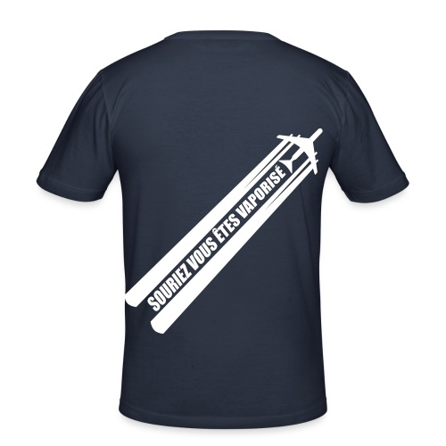 STOP CHEMTRAIL !! - T-shirt près du corps Homme