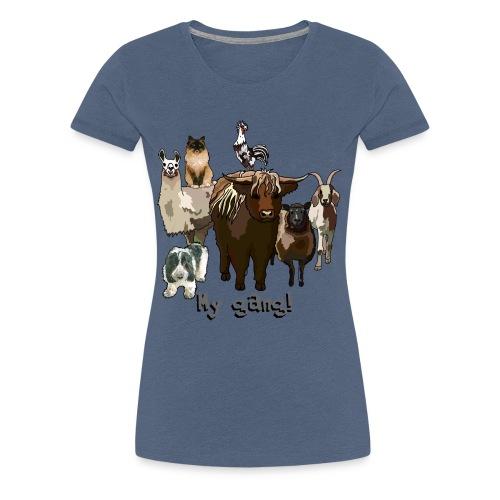 Animal Gang 2 - Frauen Premium T-Shirt