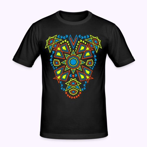 Tribal Sun Front Print - Slim Fit Shirt - Men's Slim Fit T-Shirt