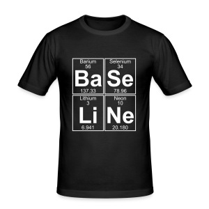 Ba-Se-Li-Ne (baseline) - Men's Slim Fit T-Shirt