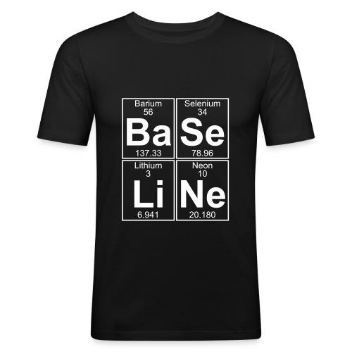 Ba-Se-Li-Ne (baseline) - Men's Slim Fit T-Shirt