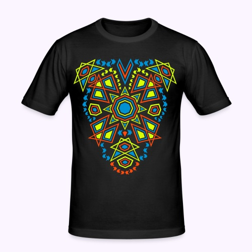 Tribal Sun 2-side Print - Slim Fit Shirt - Men's Slim Fit T-Shirt