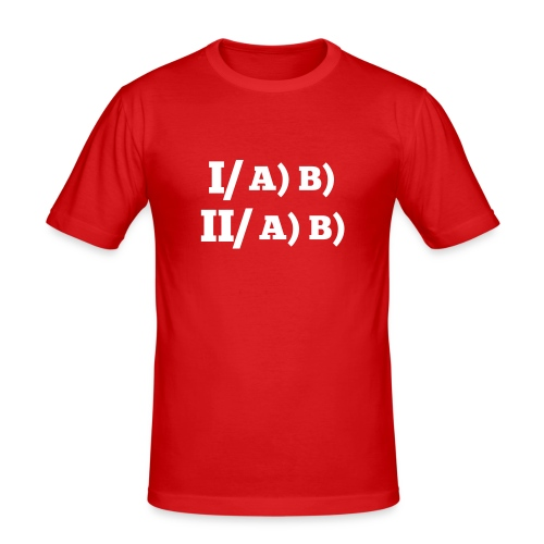 Plan-type /H - T-shirt près du corps Homme