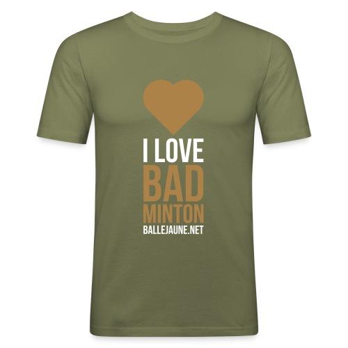 I Love Badminton T-shirt (flex2c) - T-shirt près du corps Homme