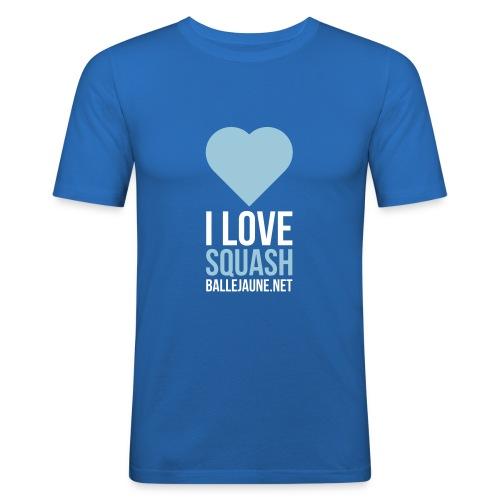 I Love Squash T-shirt (flex2c) - T-shirt près du corps Homme
