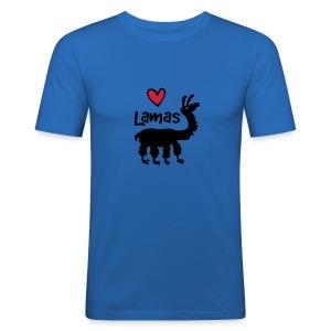 Lama :) - Männer Slim Fit T-Shirt