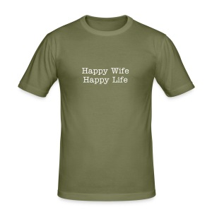 Happy Wife - Männer Slim Fit T-Shirt