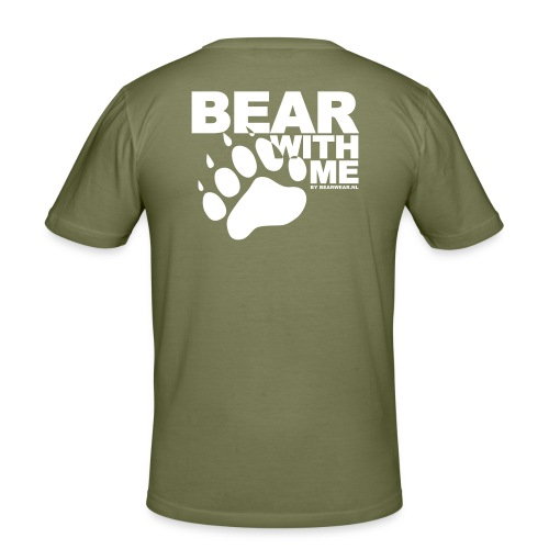 BEAR WITH ME - Men's Slim Fit T-Shirt