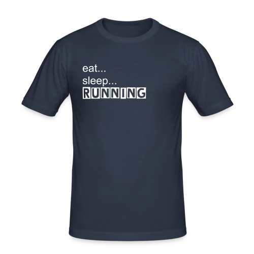 eat, sleep, RUNNING - Männer Slim Fit T-Shirt