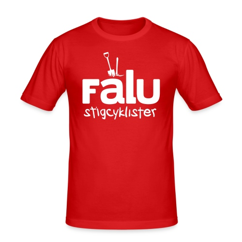 T-Shirt Slim Fit Herr, vitt tryck - Slim Fit T-shirt herr