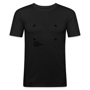 WHITE BALANCE CALIBRATION TARGET - Männer Slim Fit T-Shirt