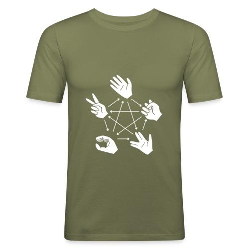 Rock-Paper-Scissors-Lizard-Spock - Men's Slim Fit T-Shirt