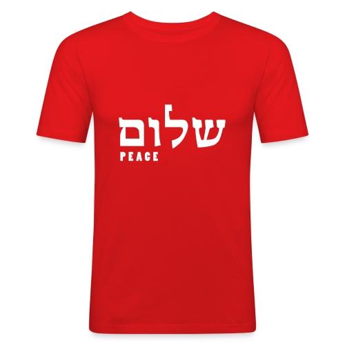 Shalom Peace - Hebrew Signature - Männer Slim Fit T-Shirt