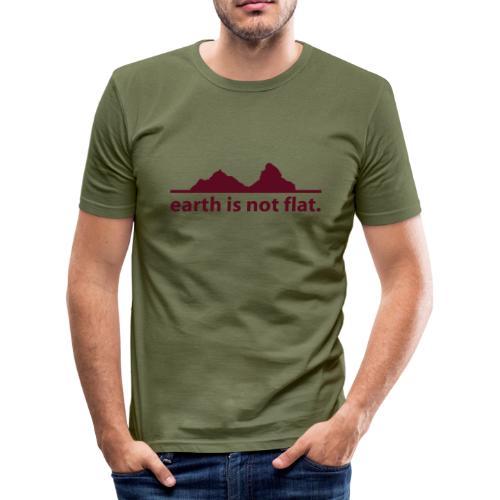 T-Shirt earth is not flat in angesagter Farbkombi - Männer Slim Fit T-Shirt