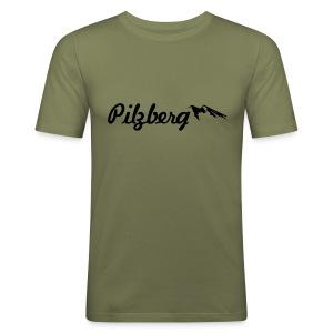 Pilzberg (schwarzer Druck) - Männer Slim Fit T-Shirt