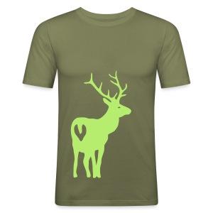 shirt t-shirt hirsch geweih elch jäger jagd junggesellenabschied - Männer Slim Fit T-Shirt