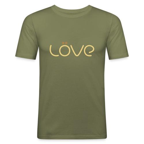 LÖVE T-Shirt Brown - Men's Slim Fit T-Shirt
