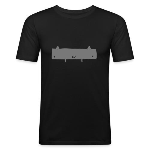 Widecat T-Shirt Grey - Men's Slim Fit T-Shirt