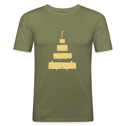 Catamorphosis T-Shirt Brown - Men's Slim Fit T-Shirt