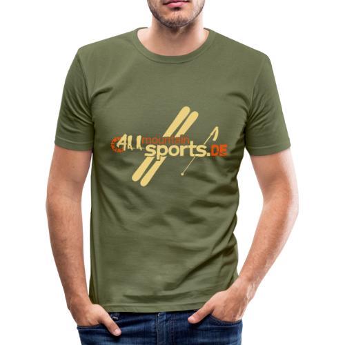 T-Shirt ALLmountainSPORTS.de allsports - Männer Slim Fit T-Shirt