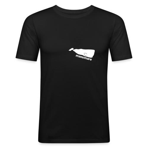 manumare Männer Slim Fit T-Shirt Fisch Pampno - Männer Slim Fit T-Shirt