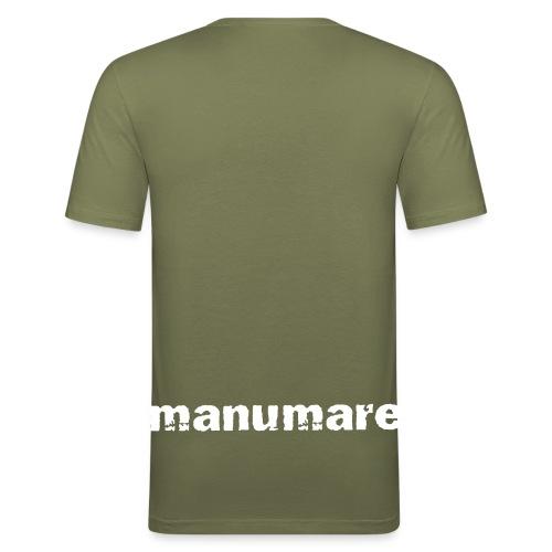 manumare Männer Slim Fit T-Shirt Lippfisch mit Ornamente - Männer Slim Fit T-Shirt