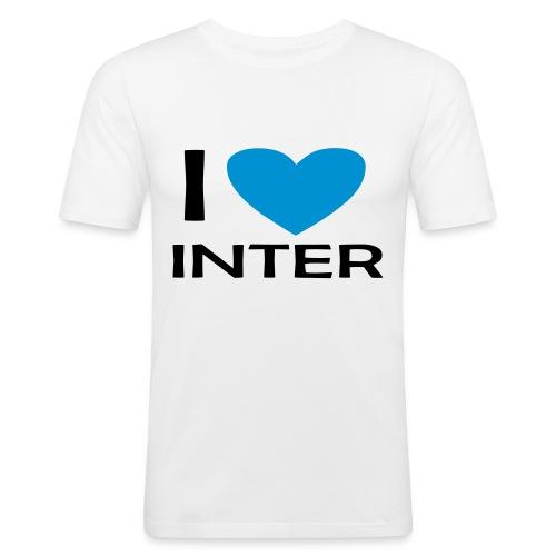 I LOVE INTER - Maglietta aderente da uomo
