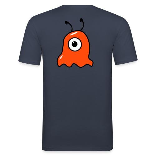 Alien - Orange Rücken - Männer Slim Fit T-Shirt