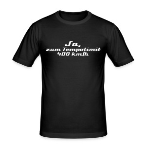 Tempolimit 400 - Men Slim Fit - Männer Slim Fit T-Shirt
