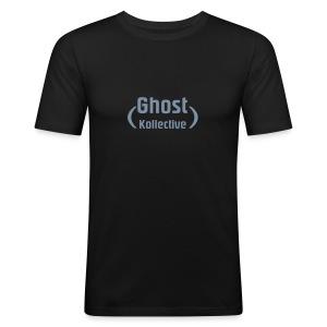 Simple guy's t' with silver flex logo - Men's Slim Fit T-Shirt