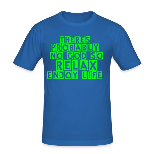 don't worry - Men's Slim Fit T-Shirt