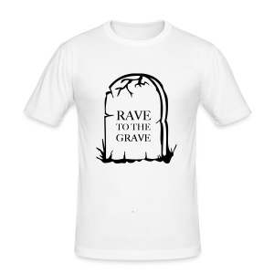 Rave to grave tombstone t-shirt - Men's Slim Fit T-Shirt