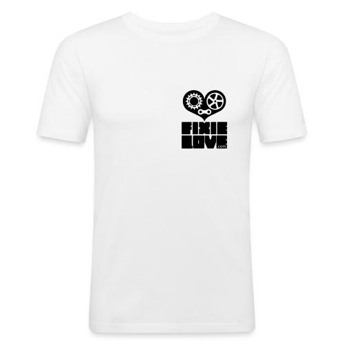 fixie love logo poitrine - T-shirt près du corps Homme