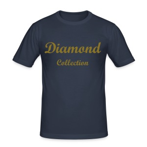 Diamond Collection Blue/Gold - Men's Slim Fit T-Shirt