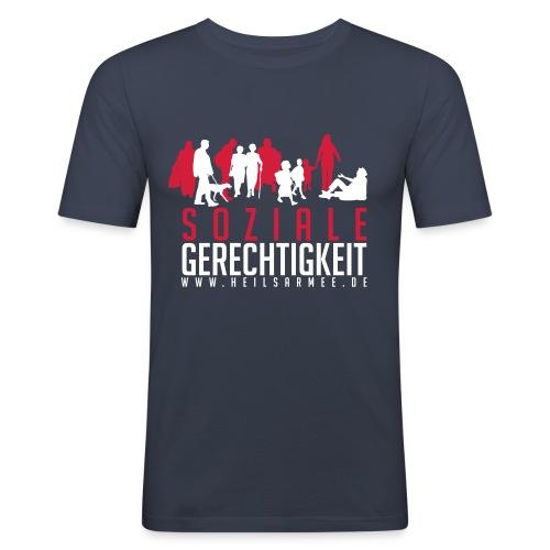 Soziale Gerechtigkeit (rot/weiß) - Männer Slim Fit T-Shirt