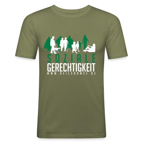 Soziale Gerechtigkeit (grün/weiß) - Männer Slim Fit T-Shirt