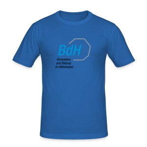 BdH-Logo blau - Männer Slim Fit T-Shirt