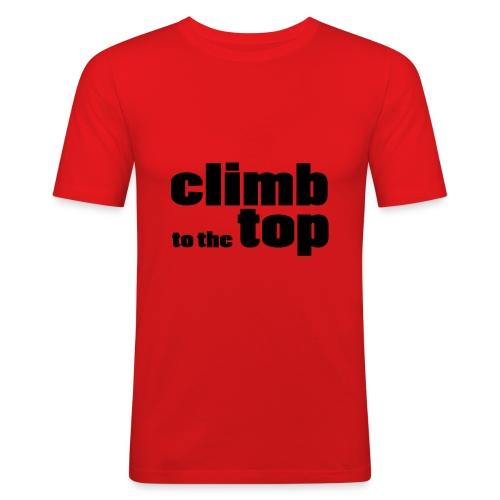 Climb to the top - T-shirt près du corps Homme