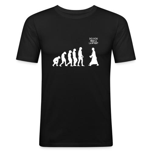 L'évolution - T-shirt près du corps Homme