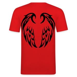 T shirt homme ailes tribales - Tee shirt près du corps Homme