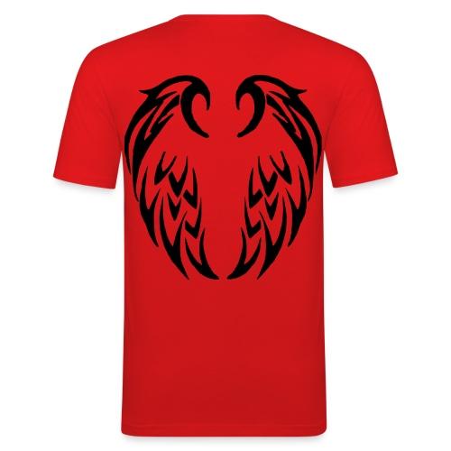T shirt homme ailes tribales - T-shirt près du corps Homme