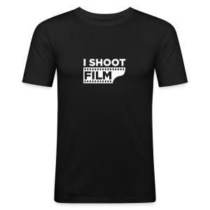 I SHOOT FILM - Männer Slim Fit T-Shirt