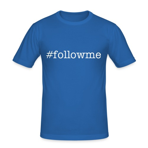 Follow Me - Hashtag - Men's Slim Fit T-Shirt