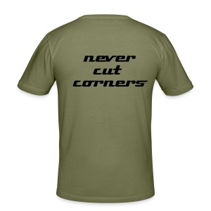 never cut corners zip - Männer Slim Fit T-Shirt