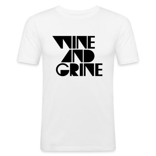 Wine & Grine Black Logo Tee - Men's Slim Fit T-Shirt