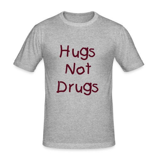 Men's SlimFit Hugs Not Drugs - Men's Slim Fit T-Shirt