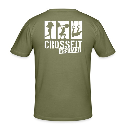 Männer Slim Fit T-Shirt Logo XL Rücken - Männer Slim Fit T-Shirt