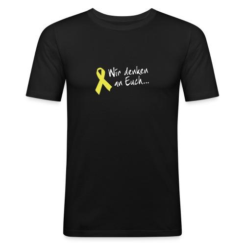 Gelbe Schleife SlimFit - Männer Slim Fit T-Shirt
